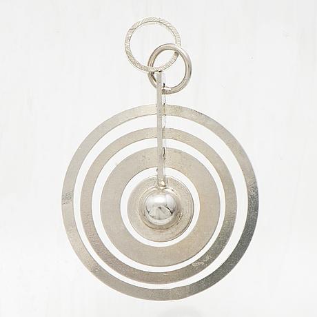 "Tapio wirkkala, a sterling silver pendant ""silver moon"" for westerback."