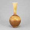 Berndt friberg, a stoneware vase from gustavsberg studio, signed and dated 1976.
