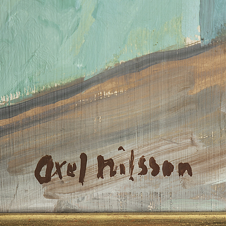 Axel nilsson, oil on panel, signed.