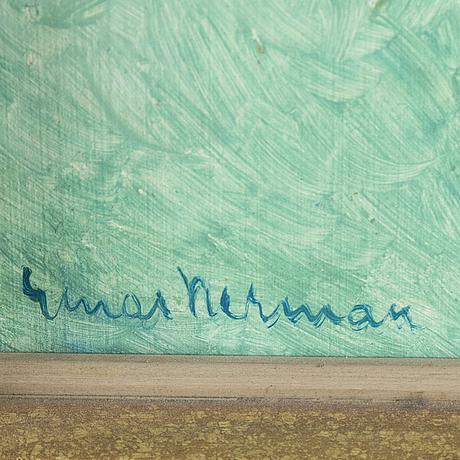 Einar nerman, oil on panel, signed.