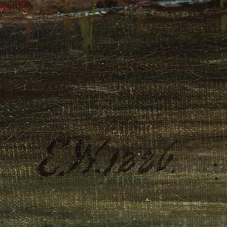 Ehrnfried wahlqvist, oil on canvas, sígned and dated 1886.