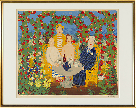 Lennart jirlow, lithograph in colours, signed 179/380.