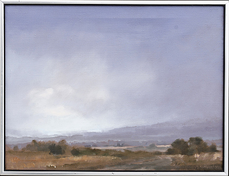 Anders emgÅrd, oil on canvas signed and dated 89.