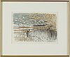 Gunnar brusewitz, watercolour, signed and dated 20/4-84.