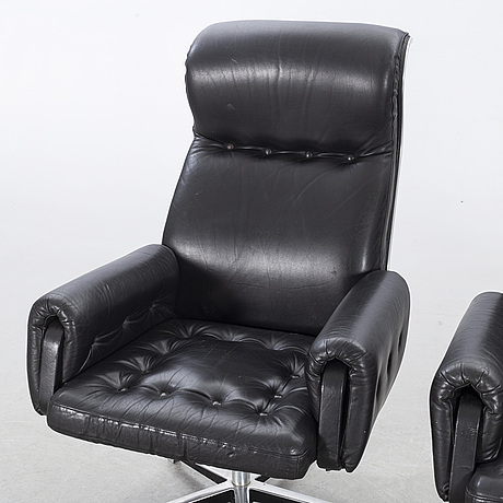 Eric sigfrid persson, two armchairs, möbelkultur ab hörby, 1970's/1980's.