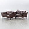 Two leather couches second half of the 20th century.