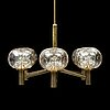 A bras 1930's/40's ceiling lamp-.