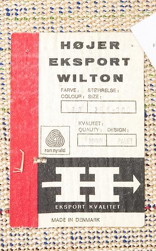 Carpet, 'palet'  højer eksport wilton. denmark 1960/70's. circa 200x300 cm.