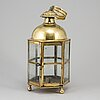 An 18th century brass lantern.