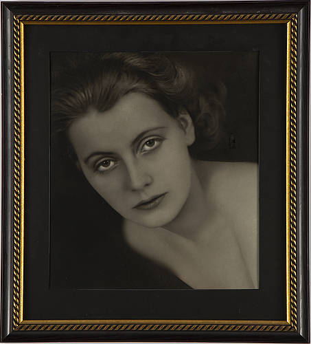Sture ekstrand, gelatin silver print depicting greta garbo , silver gelatin, probably 1930s.