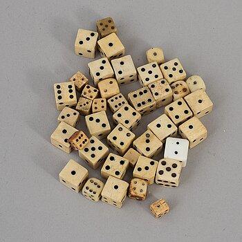 41 miniature dice, 19th/20th century.