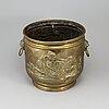 A 19th century brass flower pot.