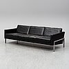 A 1960's leather covered sofa.