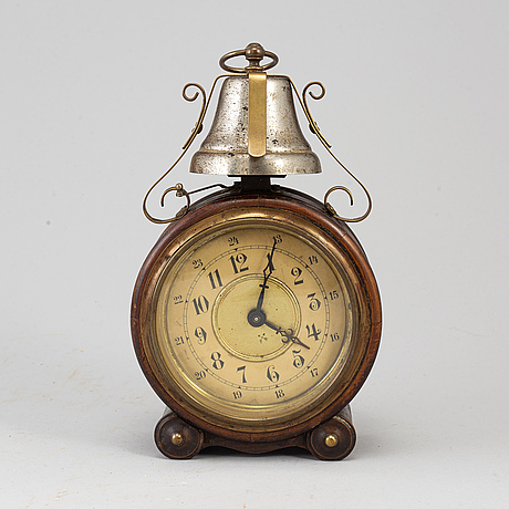A late 19th century table clock.