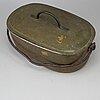 A 19th century brass fisk pan.