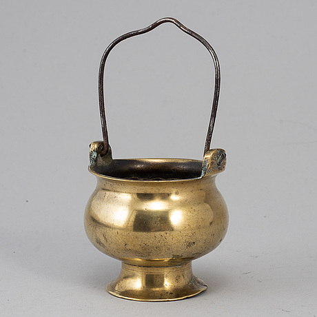 A 16th cenrtury bronze holy water bowl.