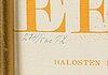 NÄyttelyjuliste, serigrafia, numeroitu 274/500.