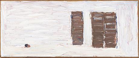 Nils-gÖran brunner, oil on canvas glued to panel, signed.