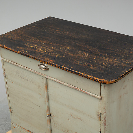 A painted pine sideaboard, late 19th century.