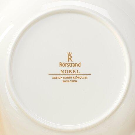 "Karin björquist, an extensive 153 pcs ""nobel"" bone china dinner service, rörstrand, post 1991."
