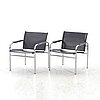 Tord bjÖrklund, two 'klinte' armchairs, for ikea, later part of the 20th century.