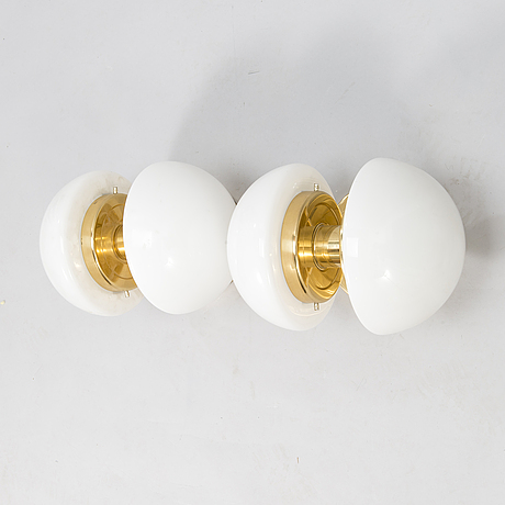 "Klaus michalik, a pair of wall lamps, ""bau"", orno."