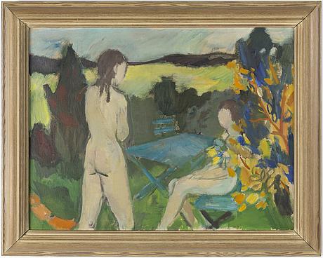 Nils nilsson, oil on canvas.