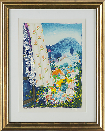 Lennart jirlow, lithograph in colours, signed 246/285.
