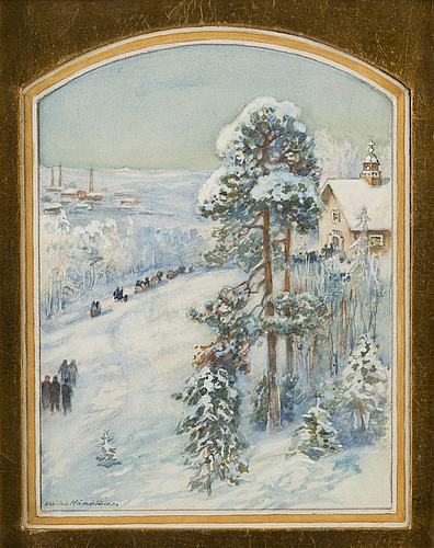VÄinÖ hÄmÄlÄinen, water colour, signed.