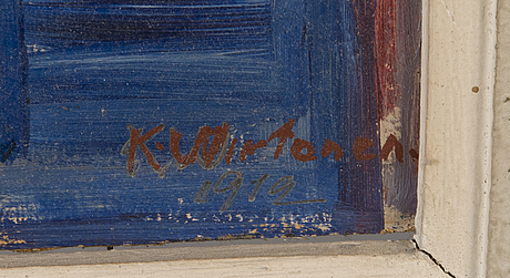 Kaapo wirtanen, oil on board, signed and dated 1912.