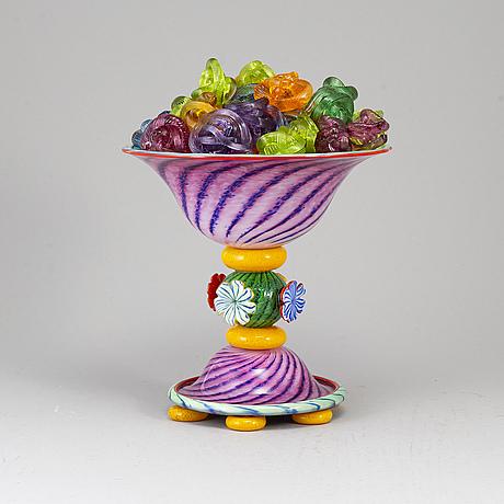 Jonas rooth, a glass sculpture, 1990's.