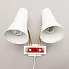 A 1950s/60s finnish double shade wall lamp, aris, arisuo oy.