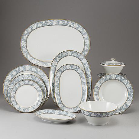 A part dinner service, bavaria, tirschenreuth, mid 20th century (55 pieces).