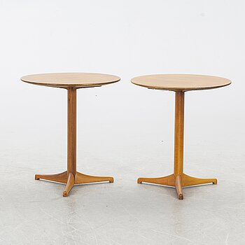 "KERSTIN HÖRLIN-HOLMQUIST, a pair of ""Äpplet"" tables, Nordiska Kompaniet, 1960's."