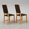 Kerstin olby, a set of six chairs by olby design.