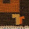 Matto, flat weave, ca 201 x 134,5-135 cm, signed v.