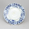 A blue and white plate, qing dynasty.