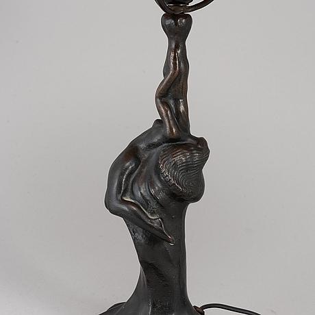 A halvar frisendah bronze table lamp.