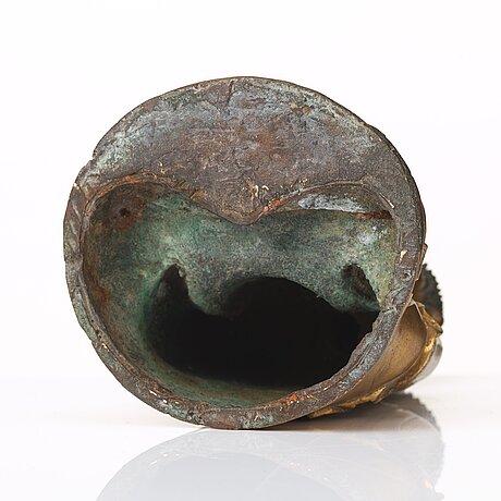 A gilt bronze figure of amithaba buddha, ming dynasty (1368-1644).
