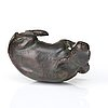 A bronze scultpure of a water buffalo, ming dynasty (1368-1644).