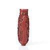 A red lacquer snuff bottle, qing dynasty, qianlong (1736-95).