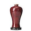 A flambé glazed meiping vase, qing dynasty, 18th century.