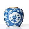 A blue and white jar with cover, qing dynasty, kangxi (1662-1722).