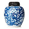 A blue and white jar, qing  dynasty, kangxi (1662-1722).