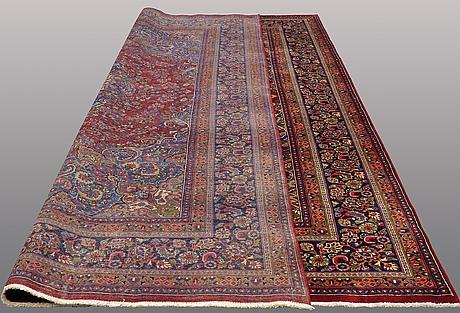 A carpet, sabzavar, ca 396 x 294 cm.