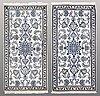 Two nain rugs, ca 136 x 69 resp 136 x 70 cm.