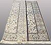 A carpet, nain part silk, so called 9 laa, ca 307 x 210 cm.