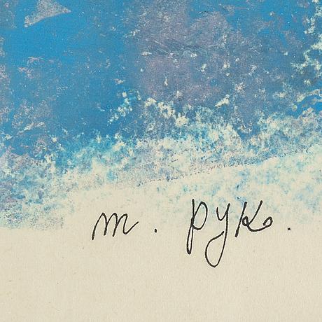 Madeleine pyk, mixed media, signed.
