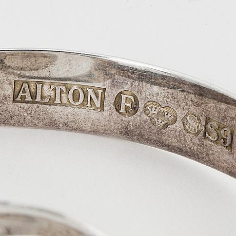 Necklace and bangle silver, alton.