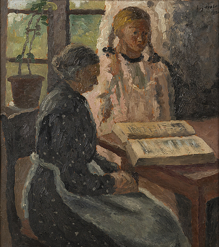 Lennu juvela, oil on wood, signed and dated 1920.